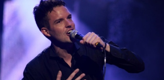 Brandon Flowers, vocalista do Killers, em show na Alemanha (05/06/2009)